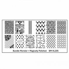 Bundle Monster - Blogger Collaboration BM-XL205, Magically Polished Jade Nails, G Nails, Manicures, Geometric Nail Art, Geometric Shapes, Monster Nails, Bundle Monster, Heart Nail Art, Nail Art Stamping Plates