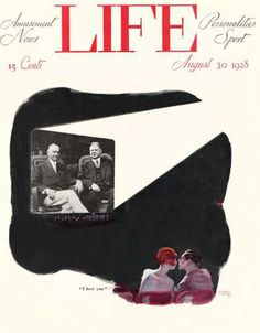 1928 I Love You Movie Theater - www.MadMenArt.com | Life Magazine ran weekly from 1883 to 1972.We especially like the profound humor and the keen-witted illustrations of the early era until 1936.