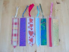 Things to make and do - Home decorated paper and Ribbon Bookmarks