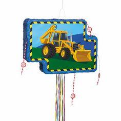 Construction+Trucks+Pinata,+Pull+String