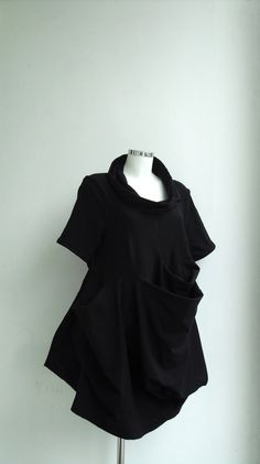 Subtraction Cutting Black Coal Mini Dress by UnderReconstruction, $80.00