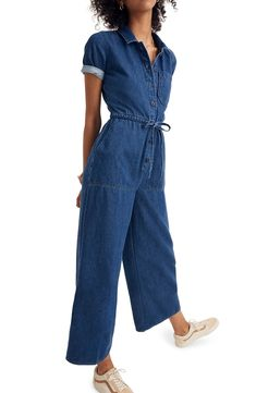cfa8bc4a51c Free shipping and returns on Madewell Wide Leg Denim Utility Jumpsuit at  Nordstrom.com.