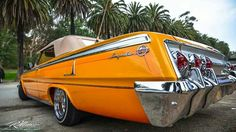 Orange Chevy Impala Lowrider