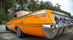 Orange Chevy Impala Lowrider