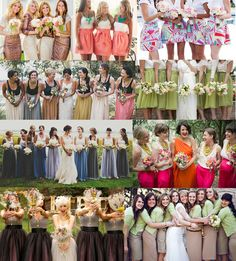 Bridesmaids Skirts!!! Effing love it. White lace shirt with yellow skirt! So much easier than finding yellow dresses. We could even make them ourselves. Ah!