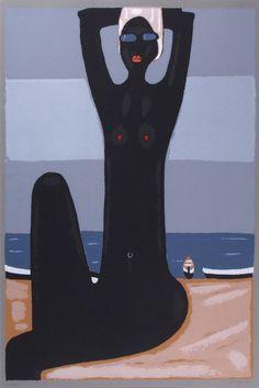 Jerzy Nowosielski | Akt na plaży, 1999 | serigraph/paper