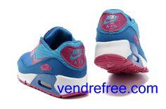 low priced 6b8d0 92a84 Vendre Pas Cher Femme Chaussures Nike Air Max 90 (couleur bleu,rouge,blanc)  en ligne en France.