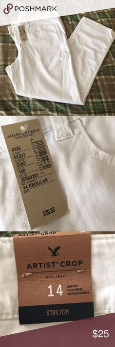 American Eagle crop pant NWT Never been worn!!!  Still has all original tags attached.  Crop pants Artist fit. American Eagle Outfitters Pants Ankle & Cropped