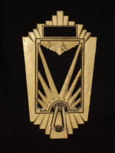 reserved for mor2008 gold tone art deco speakeasy by missruthies