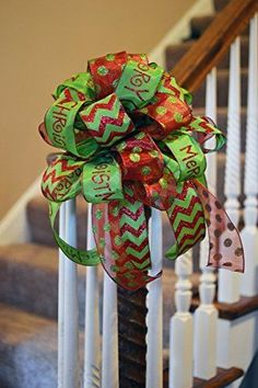 Save those ribbon scraps and make these easy multiple ribbon bows. Save those ribbon scraps and make these easy multiple ribbon bows. Christmas Bows, Christmas Tree Toppers, Christmas Decorations, Xmas Trees, Merry Christmas, Grinch Decorations, Outdoor Christmas, Simple Christmas, Gift Wrapping Bows