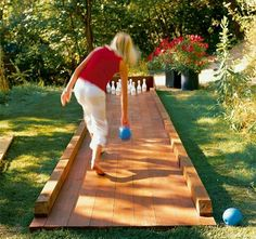 Bowling or some other game built into the back yard! Love it