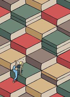 Pinzellades al món: 'Cien sillones y pico', de Max: un llibre amb il·lustracions de llibres, lectors i lectures
