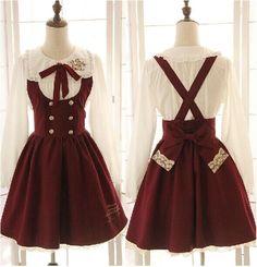J-fashion school style lolita dress -himifashion