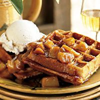 Spiced Waffles with Caramelized Apples by SELF