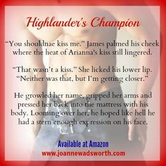 Highlander's Champion available for pre-order; book release date:  2/26 don't miss out!!!