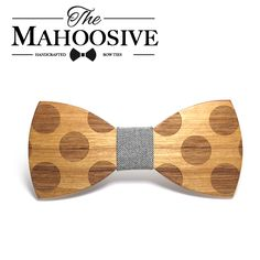 Mahoosive Novelty Solid Dot Wood Bow Tie For Men Classic Wooden Bowties Neckwear Creative Handmade Butterfly Wood Tie Gravata Wooden Bow Tie, All Tied Up, Wooden Sunglasses, Butterfly Shape, Women's Accessories, Creative, Handmade, Handkerchiefs, Men Ties