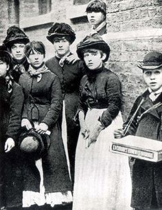 Matchgirls participating in a strike against Bryant May in London 1888.