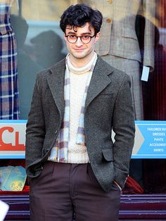 oh just look at our little Harry Potter from people magazine...filming Kill Your Darlings