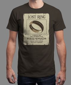 """Lost Ring"" on Qwertee : Limited Edition Cheap Daily T Shirts 