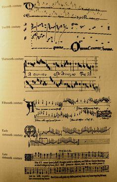 Visual evolution of music notation