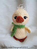 Teri Crews Designs: Free Cute Chick Crochet Pattern, #amigurumi