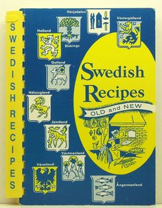 Swedish Recipes Old and New American by ClassicOldCookbooks, $9.99