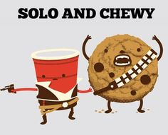 Solo and Chewy. The Star Wars nerd in me loves this! My Sun And Stars, Love Stars, Geeks, Funny Bumper Stickers, Character Design Cartoon, Hilarious, Funny Memes, Funny Sarcasm, The Force Is Strong