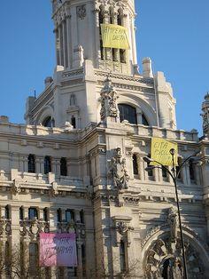 #post-it sul Palazzo delle Poste, #Madrid #Spain