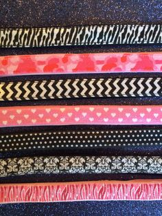 NEW PRODUCT ALERT! Just in (literally!). Introducing 7 new satin prints - from top to bottom Zebra (Black and White), Pink Camouflage, Chevron (Black and White), Pink With White Hearts, Black With White Polka Dots, Damask, Pink Zebra Satin Sparkle! Check out http://shop.sparklysoul.com/Satin-Wide-Headbands_c4.htm to order these now! Don't forget to use our Labor Day Code (LABORDAY) at checkout for 20% off your entire order now until Monday!