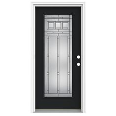 ReliaBilt�37-in Full Lite Decorative Peppercorn Inswing Fiberglass Entry Door The only change is I want it in red!