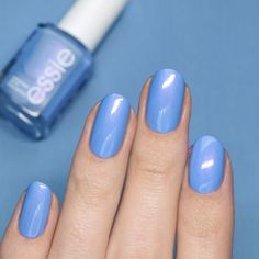 nails Celebrity Nails, Blue Nails, Essie, Swatch, Nail Polish, Nail Art, Beauty, Blue Nail, Cosmetology