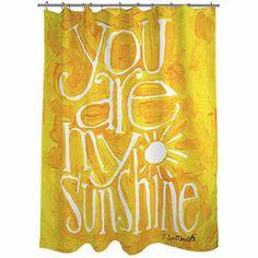 "Thumbprintz You are my Sunshine Shower Curtain, 71"" x 74"""