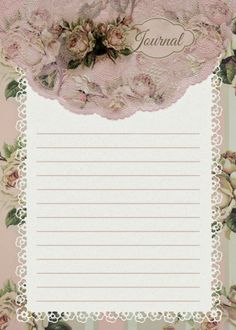 Roses & stripes journal cards Free-download