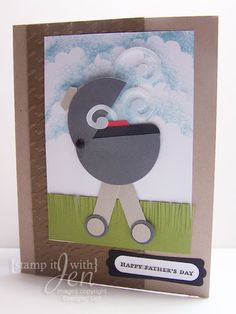 Grill Punch art Card made using Stampin' Up Supplies! Made these for Father's Day!