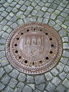 Prague manhole cover, ya know i heard in Europe they think manhole is a funny word