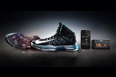 Nike+ Basketball & Training. Pairing a new Nike+ Pressure Sensor in each shoe with apps dedicated to a specific experience, this new system can track a baller's every move during the game to let them know how high, hard, and quick they're going, or tell athletes how they're doing in their training, resulting in custom tailored workouts.