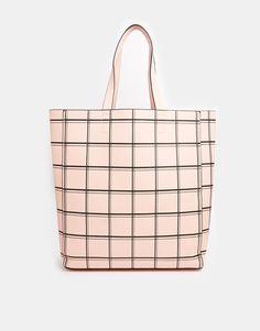 New Look Pastel Grid Shopper