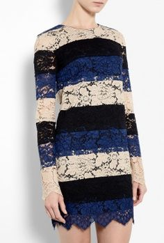 Striped Lace Tunic Dress by MSGM