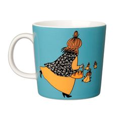 Moomin mug Mymbles mother, turquoise