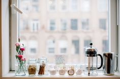 Julie Hwang of Big City Little Sweets // fresh flowers // baking necessities // french press // Photography by Judy Pak // @Big City Little Sweets
