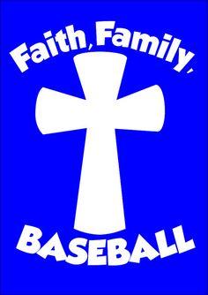 Faith Family Baseball  Vinyl decal lilly by TheLazyIdesigns
