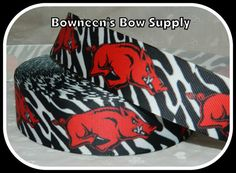 By the yard Hog Pig University of Arkansas by BowneensBowSupply, $1.50