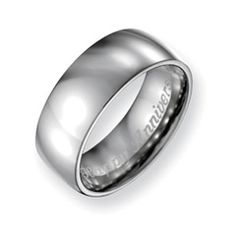 Zales Mens 8.0mm Engraved Stainless Steel with 14K Gold Inlay Brushed Wedding Band (18 Characters) ClIs2aZq