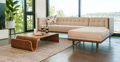 2140 Walnut Furniture, Modern Furniture, Condo Furniture, Chaise Sofa, Couch, Modular Sofa, Wood Pieces, Fabric Sofa, Home