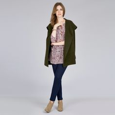 Give your casual wardrobe a playful update with our beautiful Woodland print tunic. In a palette of beetroot and cream this relaxed, collarless style features button detail and has been cut for a loose, slouchy fit perfect for a chic weekend look. #AW15 #LauraAshley