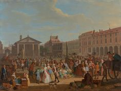 Covent Garden 1726 from J.H. Plumb 'The pursuit of Happiness' Paul Mellon collection