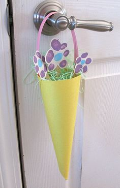 Fingerprint May Day baskets  #preschool