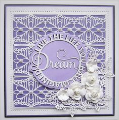 PartiCraft (Participate In Craft): Dream Circle Good Sunday Morning, Sue Wilson Dies, Crafts Beautiful, You Make Me Happy, Die Cut Cards, Embossing Folder, Birthday Cards, Card Making, About Me Blog