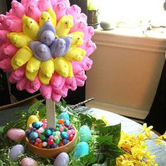 Edible Easter Crafts - Easy Easter Crafts - Delish crafts edible 9 Incredibly Cute Easter Crafts That You Can Eat After the Holiday Easy Easter Crafts, Easter Projects, Easy Crafts, Crafts For Kids, Easter Ideas, Easter Table, Easter Party, Easter Eggs, Easter Food