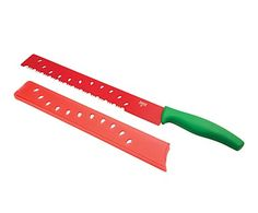 Cuchillo para sandía en plástico y acero - rojo